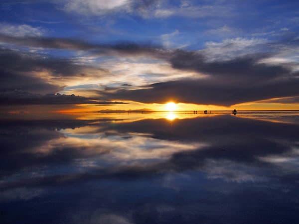 ウユニ塩湖サンセット