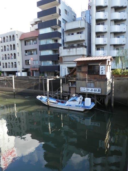 神田川沿いの船宿