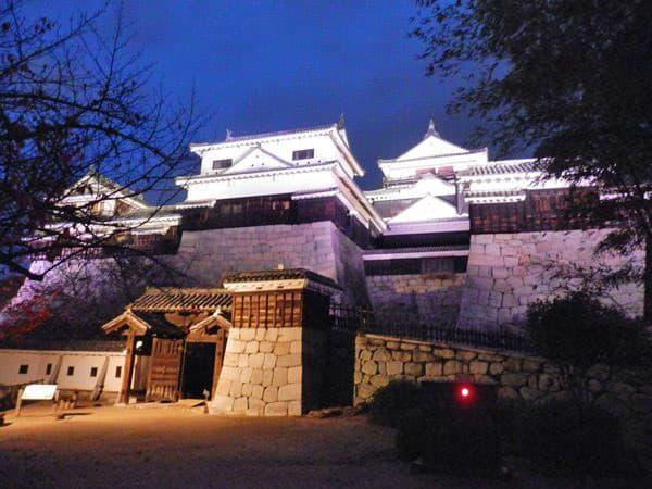 ライトアップされた松山城