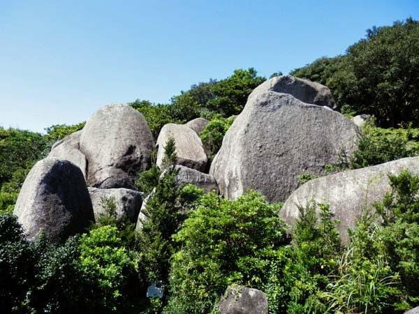 唐人石の山側