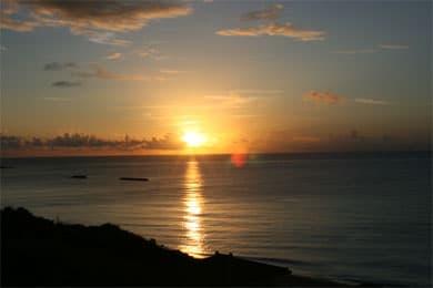 波照間の夕日