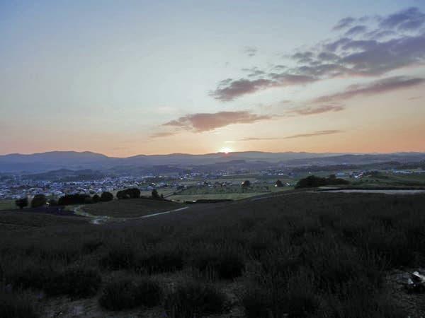日の出公園からの夕日
