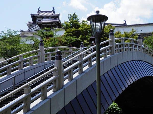 アーチ橋と福知山城