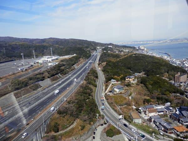 観覧車からの高速道路
