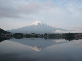 山梨県 河口湖からの富士山