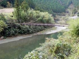 高知県 26号線のつり橋