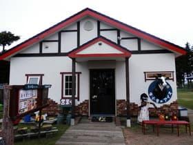 北海道 牛小屋のアイス