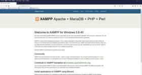 XAMPPサーバー画面